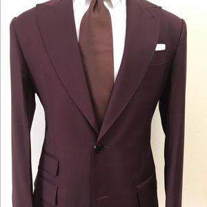 Other - Burgundy Super 150 cerruti wool suit